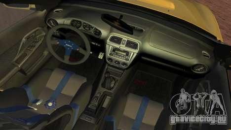 Subaru Impreza WRX 2002 Type 1 для GTA Vice City вид сзади