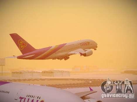 Airbus A380-800 Thai Airways International для GTA San Andreas салон