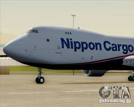 Boeing 747-8 Cargo Nippon Cargo Airlines для GTA San Andreas вид изнутри