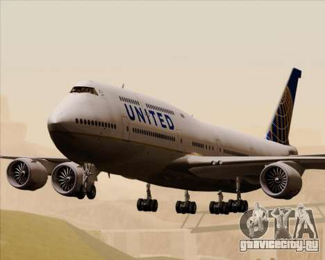 Boeing 747-8 Intercontinental United Airlines для GTA San Andreas
