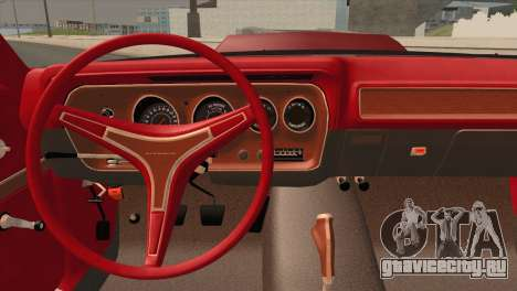 Plymouth GTX Tuned 1972 v2.3 для GTA San Andreas вид сзади