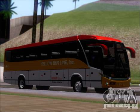Marcopolo Paradiso G7 1050 Yellow Bus Line A-2 для GTA San Andreas вид слева