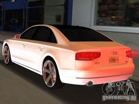 Audi A8 2010 W12 Rim3 для GTA Vice City вид слева