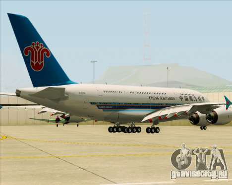 Airbus A380-841 China Southern Airlines для GTA San Andreas вид сзади слева