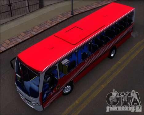 Neobus Spectrum Linea 38 Mcal. Lopez для GTA San Andreas вид изнутри
