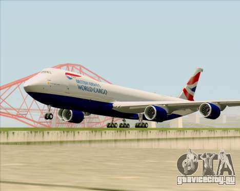 Boeing 747-8 Cargo British Airways World Cargo для GTA San Andreas вид слева