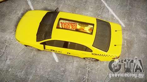 GTA V Vapid Taurus Taxi LCC для GTA 4 вид справа