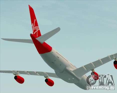 Airbus A340-313 Virgin Atlantic Airways для GTA San Andreas вид сбоку