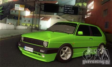 Volkswagen Golf Mk2 Zelengija для GTA San Andreas