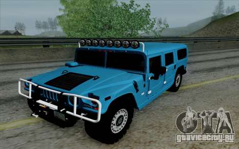 Hummer H1 Alpha 2006 Road version для GTA San Andreas вид сзади
