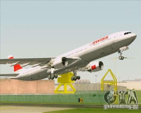 Airbus A330-300 Swiss International Air Lines для GTA San Andreas вид снизу