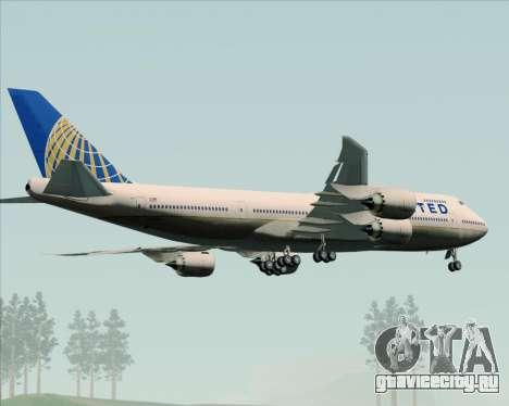 Boeing 747-8 Intercontinental United Airlines для GTA San Andreas вид сверху