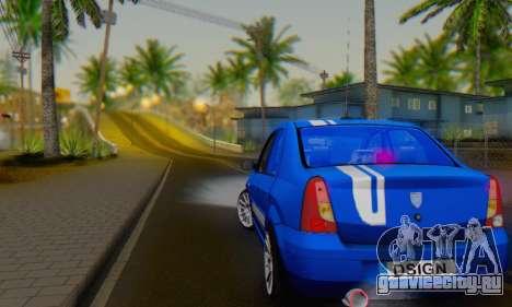 Dacia Logan Tuning Rally (B 48 CUP) для GTA San Andreas вид справа