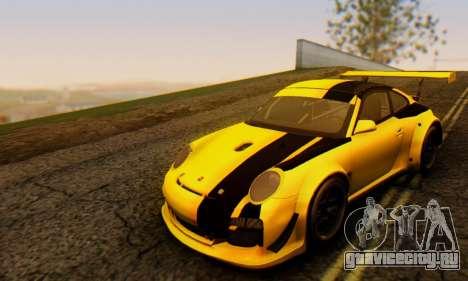 Porsche 911 GT3 R 2009 Black Yellow для GTA San Andreas вид слева