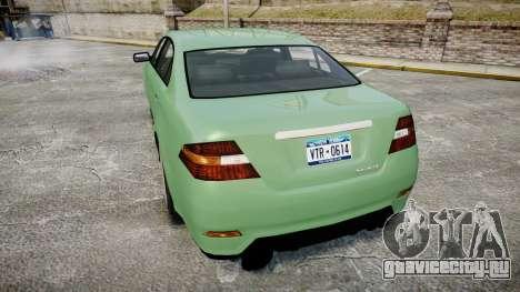 GTA V Vapid Taurus для GTA 4 вид сзади слева