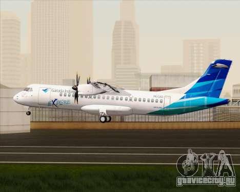 ATR 72-500 Garuda Indonesia Explore для GTA San Andreas вид справа