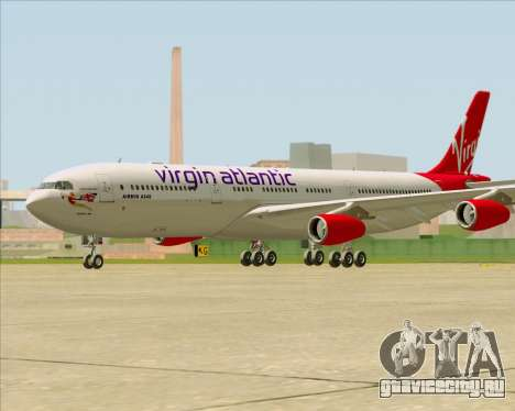 Airbus A340-313 Virgin Atlantic Airways для GTA San Andreas вид справа