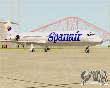 McDonnell Douglas MD-82 Spanair для GTA San Andreas вид сзади слева