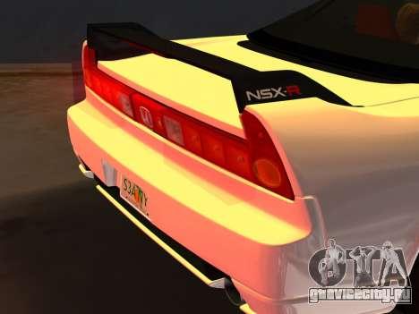 Honda NSX-R для GTA Vice City вид снизу