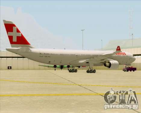 Airbus A330-300 Swiss International Air Lines для GTA San Andreas вид сзади слева