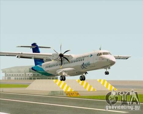 ATR 72-500 Garuda Indonesia Explore для GTA San Andreas вид слева