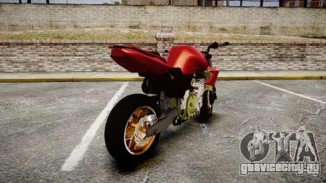Yamaha FZ6 для GTA 4 вид сзади слева