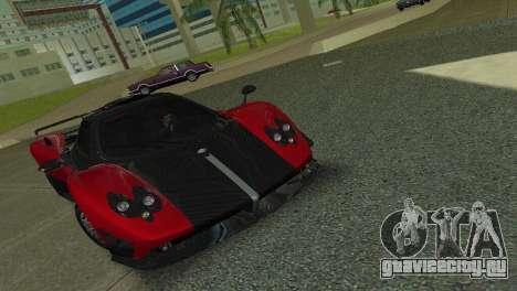 Pagani Zonda Cinque для GTA Vice City вид сзади слева