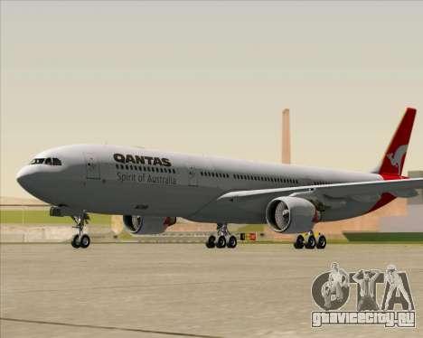 Airbus A330-300 Qantas для GTA San Andreas вид слева