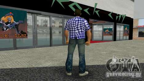 Kockas polo - sotetkek T-Shirt для GTA Vice City третий скриншот