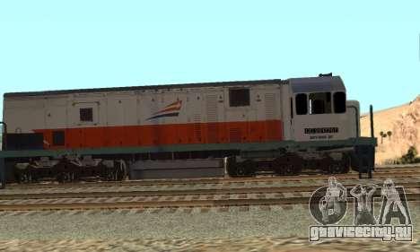 GE U18C CC 201 Indonesian Locomotive для GTA San Andreas вид слева