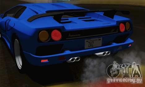 Lamborghini Diablo SV 1995 (ImVehFT) для GTA San Andreas вид сверху