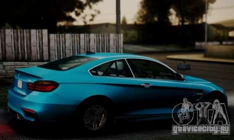 BMW M4 2014 для GTA San Andreas вид слева