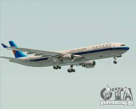 Airbus A330-300 China Southern Airlines для GTA San Andreas вид сверху