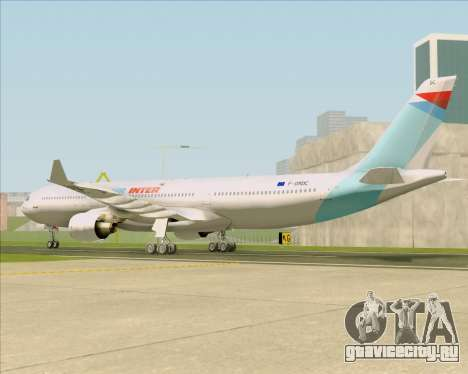 Airbus A330-300 Air Inter для GTA San Andreas вид сзади слева