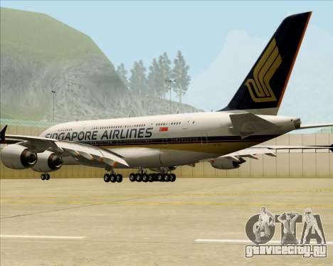 Airbus A380-841 Singapore Airlines для GTA San Andreas вид справа