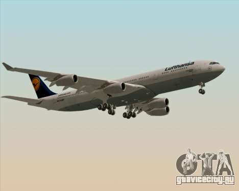 Airbus A340-313 Lufthansa для GTA San Andreas вид изнутри