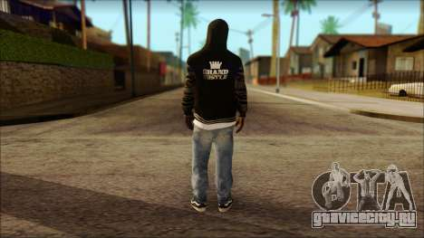 New Grove Street Family Skin v6 для GTA San Andreas второй скриншот
