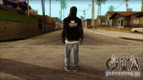 New Grove Street Family Skin v6 для GTA San Andreas второй скриншот
