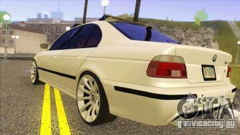 BMW M5 E39 2003 Stance для GTA San Andreas вид сзади слева