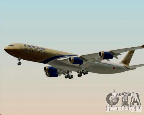 Airbus A340-313 Gulf Air для GTA San Andreas двигатель