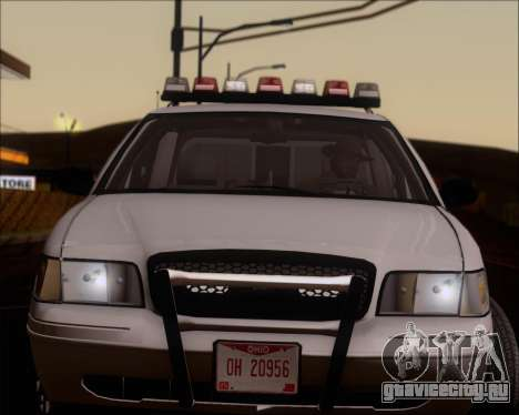 Ford Crown Victoria Tallmadge Battalion Chief 2 для GTA San Andreas вид сзади