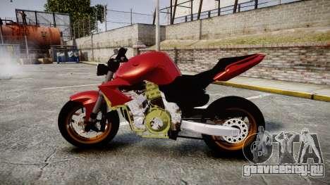 Yamaha FZ6 для GTA 4 вид слева