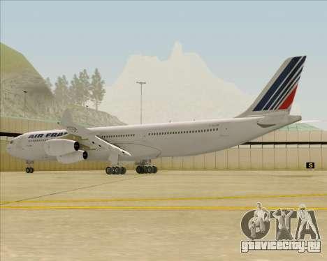 Airbus A340-313 Air France (Old Livery) для GTA San Andreas вид сзади слева