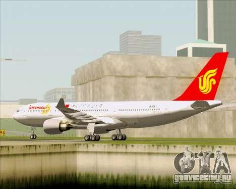 Airbus A330-200 Air China для GTA San Andreas вид справа