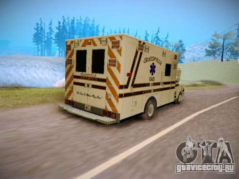 Pierce Commercial Grasonville Ambulance для GTA San Andreas вид сзади