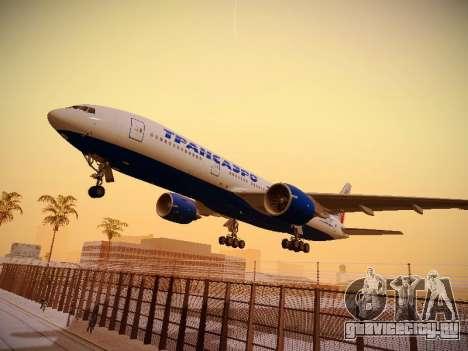 Boeing 777-212ER Transaero Airlines для GTA San Andreas