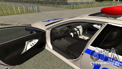 Toyota Camry ДПС для GTA San Andreas вид сзади