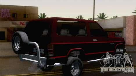 Nissan Patrol 2 Door для GTA San Andreas вид слева