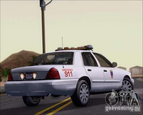 Ford Crown Victoria Tallmadge Battalion Chief 2 для GTA San Andreas вид справа