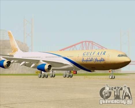 Airbus A340-313 Gulf Air для GTA San Andreas вид сзади слева